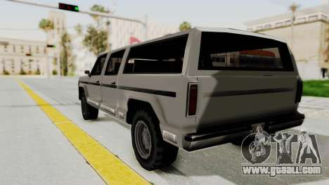 New Rancher for GTA San Andreas back left view