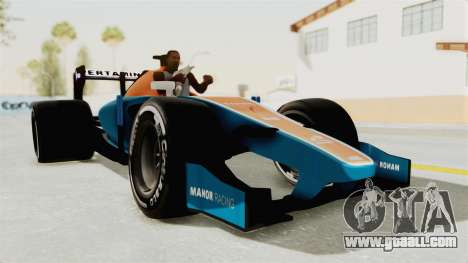 Rio Haryanto 88 F1 Manor Racing for GTA San Andreas back left view