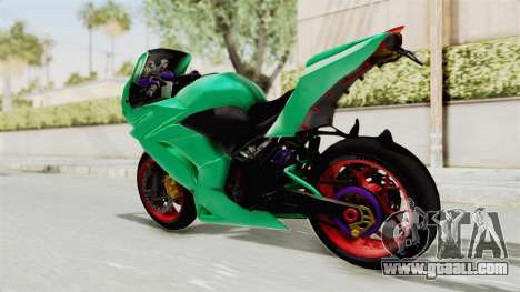 Kawasaki Ninja 250R Race for GTA San Andreas left view