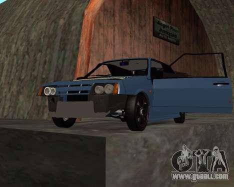 VAZ 2108 for GTA San Andreas bottom view