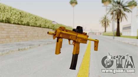 MP7A1 Gold for GTA San Andreas second screenshot