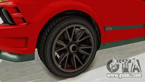 GTA 5 Vapid Dominator v2 SA Lights for GTA San Andreas back view