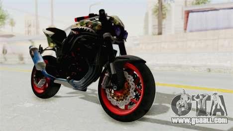 Kawasaki Ninja 250R Naked Camouflage for GTA San Andreas