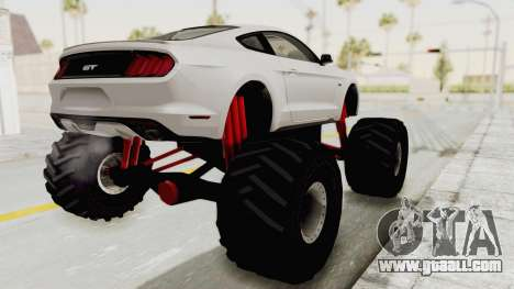 Ford Mustang GT 2015 Monster Truck for GTA San Andreas left view