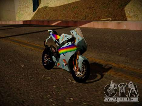 Yamaha YZR M1 2016 Rainbow Dash for GTA San Andreas back left view
