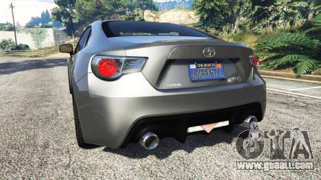 GTA 5 Toyota GT-86 v1.7 rear left side view