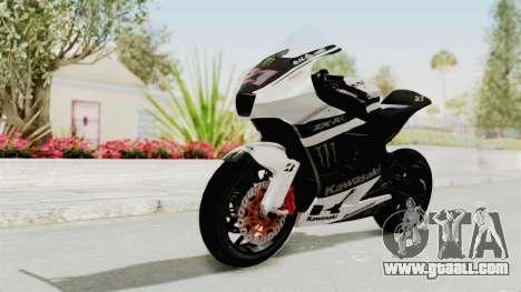 Kawasaki Ninja ZX-RR Streetrace for GTA San Andreas back left view