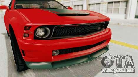 GTA 5 Vapid Dominator v2 SA Lights for GTA San Andreas inner view