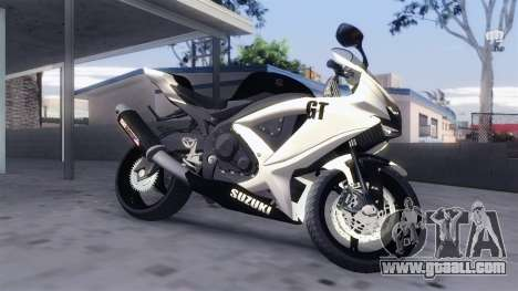 Suzuki GSX-R 600 2015 White for GTA San Andreas