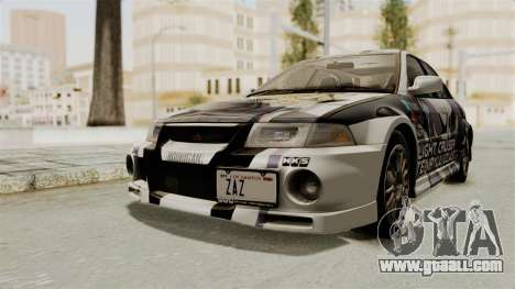 Mitsubishi Lancer Evolution VI Tenryuu Itasha for GTA San Andreas right view