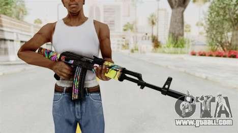AK-47 Cannabis Camo for GTA San Andreas third screenshot