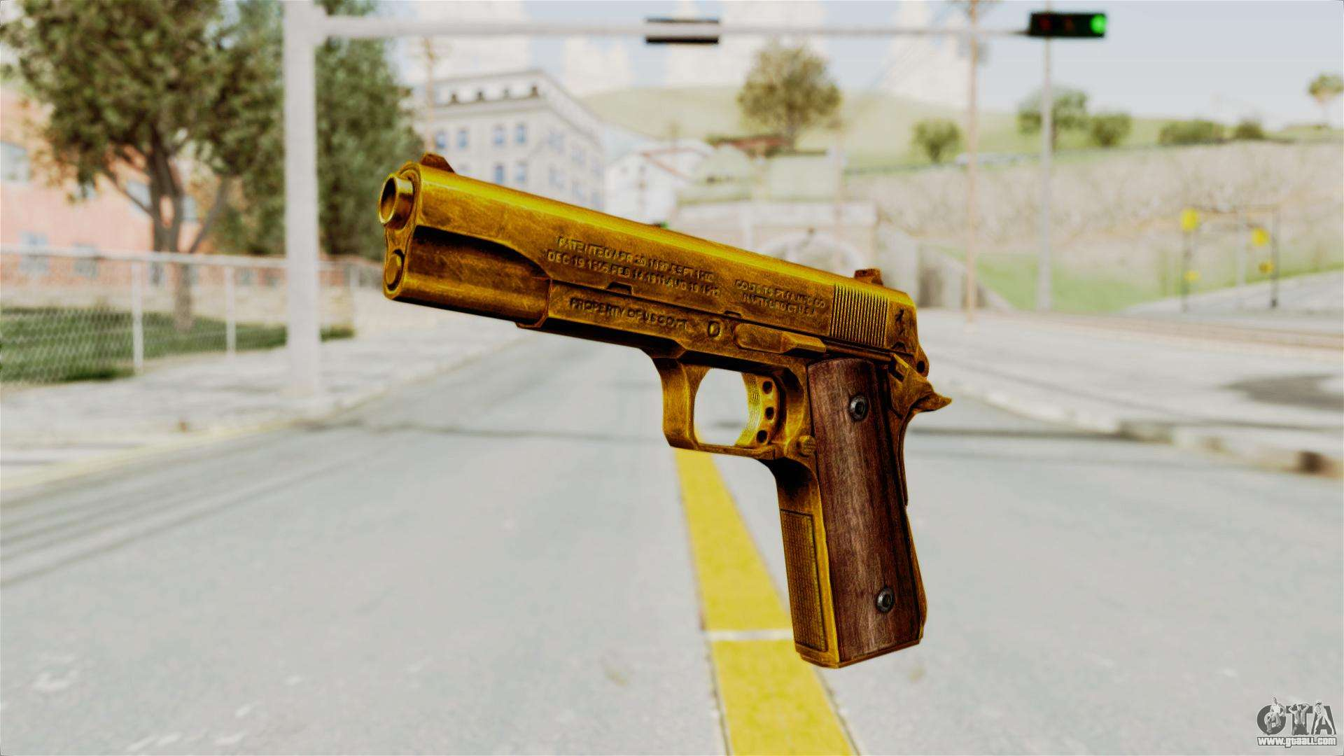 M1911 Gold For Gta San Andreas
