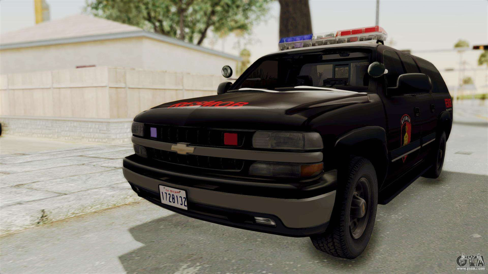 Chevrolet suburban indonesian police resmob unit for gta san andreas back left view