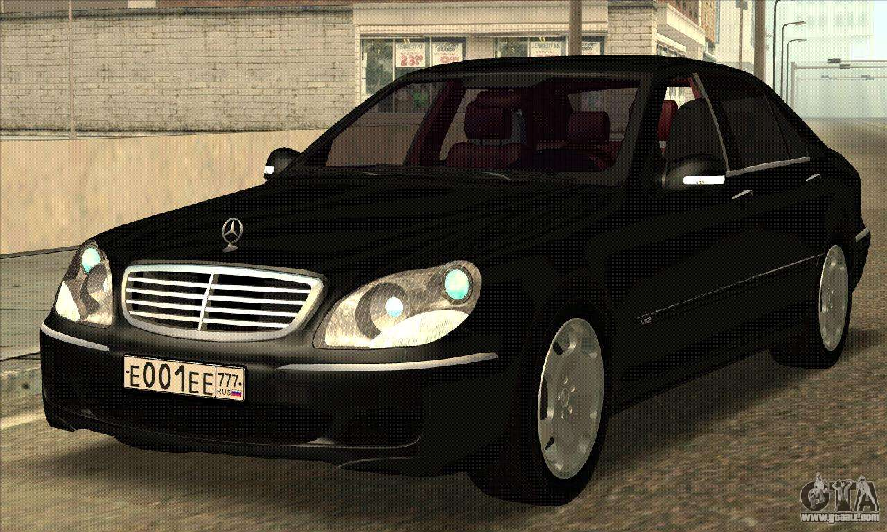 mercedes benz s600 for gta san andreas. Black Bedroom Furniture Sets. Home Design Ideas