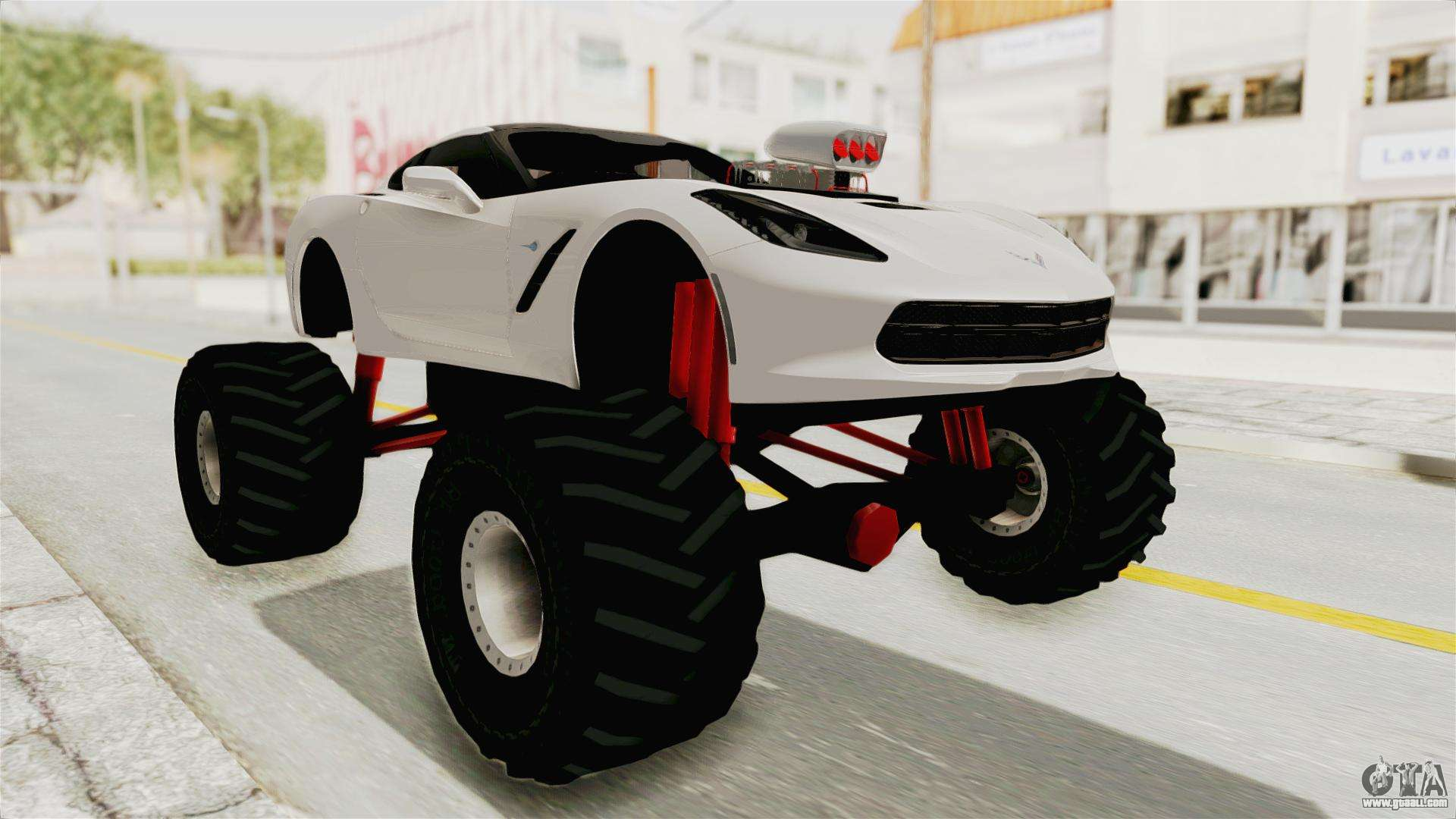Chevrolet Corvette Stingray C7 Monster Truck For Gta San