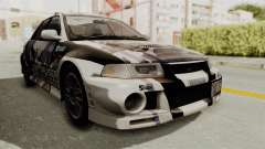 Mitsubishi Lancer Evolution VI Tenryuu Itasha for GTA San Andreas
