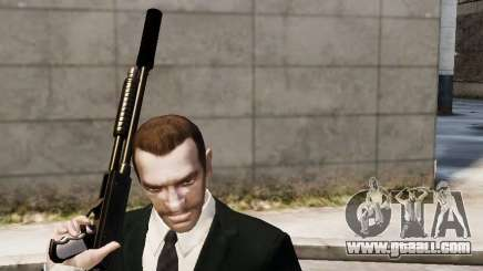 The silencer on the weapon for GTA 4