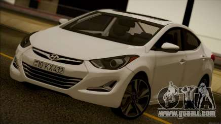 Hyundai ELANTRA 2015 STOCK for GTA San Andreas