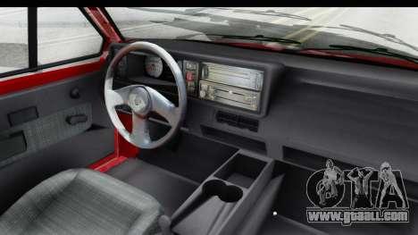Volkswagen Golf Citi 1.8 1998 for GTA San Andreas inner view