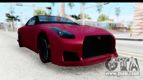 Nissan GT-R R35 Top Speed for GTA San Andreas right view