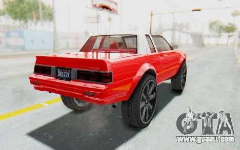 GTA 5 Willard Faction Custom Donk v2 IVF for GTA San Andreas left view