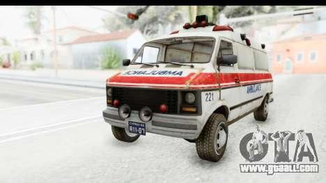 MGSV Phantom Pain Ambulance for GTA San Andreas back left view