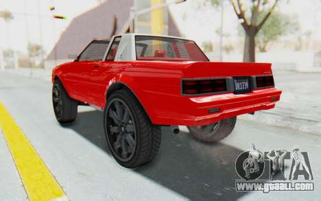 GTA 5 Willard Faction Custom Donk v2 IVF for GTA San Andreas back left view
