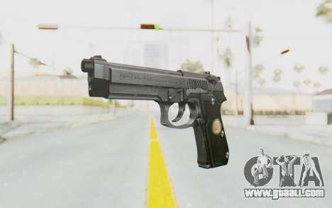 Tariq Iraqi Pistol Back v1 Silver for GTA San Andreas