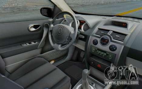 Renault Megane 2 for GTA San Andreas inner view