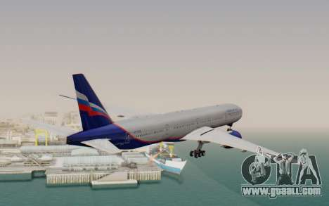 Boeing 777-300ER Aeroflot for GTA San Andreas right view