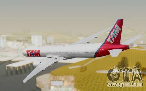 Boeing 777-300ER TAM linhas Aéreas for GTA San Andreas right view