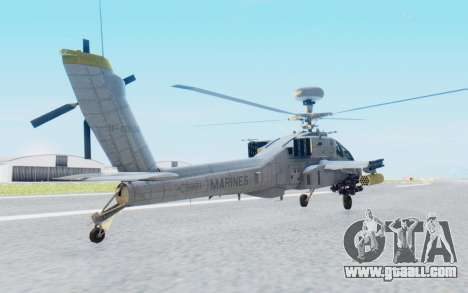 AH-64 Apache Marines for GTA San Andreas left view