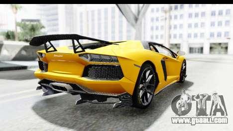 Lamborghini Aventador LP700-4 LB Walk for GTA San Andreas left view