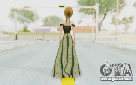 Frozen - Anna Coronation Dress for GTA San Andreas third screenshot