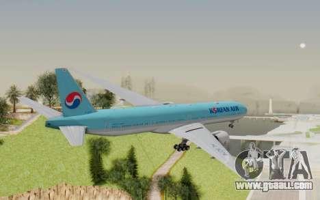 Boeing 777-300ER Korean Air for GTA San Andreas right view