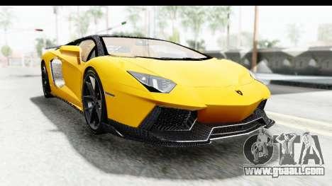 Lamborghini Aventador LP700-4 LB Walk for GTA San Andreas back view