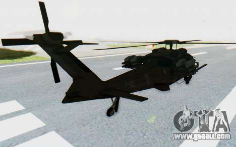 MGSV Phantom Pain UTH-66 Blackfoot for GTA San Andreas left view