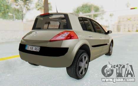 Renault Megane 2 for GTA San Andreas left view
