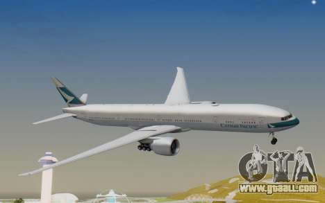 Boeing 777-300ER Cathay Pacific Airways v1 for GTA San Andreas back left view