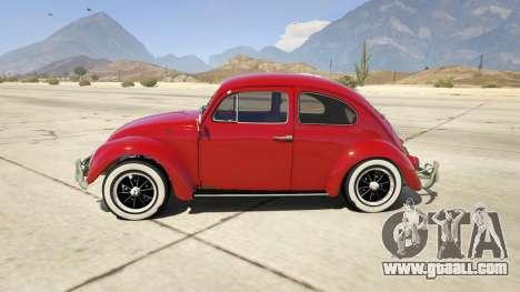 GTA 5 1963 Volkswagen Beetle 1.0.1 left side view