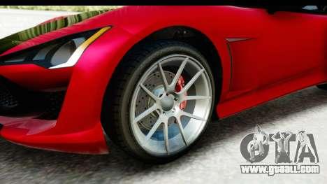 GTA 5 Lampadati Furore GT IVF for GTA San Andreas back view