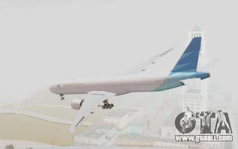 Boeing 777-300ER Garuda Indonesia for GTA San Andreas left view