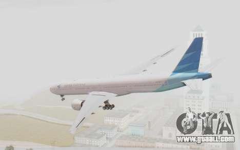 Boeing 777-300ER Garuda Indonesia for GTA San Andreas left view