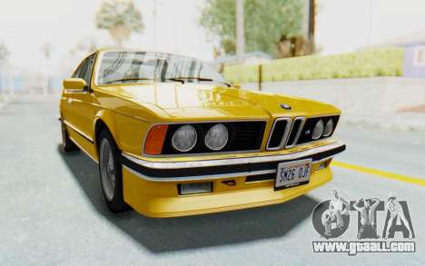 BMW M635 CSi (E24) 1984 HQLM PJ2 for GTA San Andreas back left view