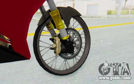Yamaha Jupiter MX 135 Lock Style for GTA San Andreas back view