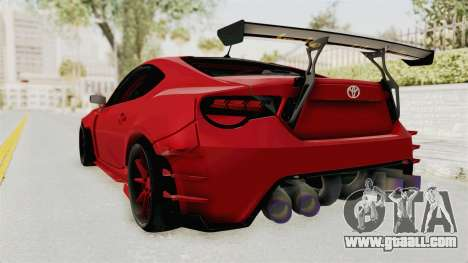Toyota GT86 Drift Edition for GTA San Andreas left view