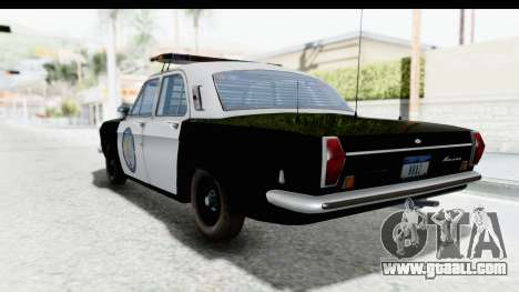 ГАЗ 24 Police Highway Patrol for GTA San Andreas left view