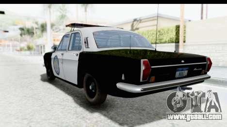 ГАЗ 24 Police Highway Patrol for GTA San Andreas left view