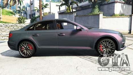 GTA 5 Audi A4 2017 [add-on] v1.1 left side view