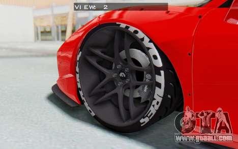 Ferrari 458 Liberty Walk for GTA San Andreas upper view